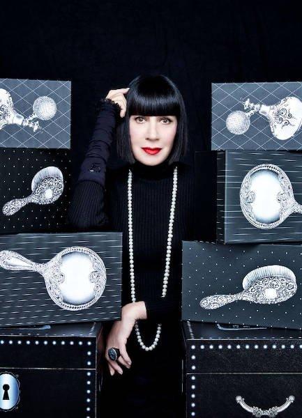 Chantall Thomass - projektantka bielizny, której fryzura dla wielu jest inspiracją uczesania