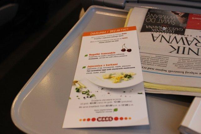 Śniadaniowe menu w Pendolino - obie pozycje godne polecenia
