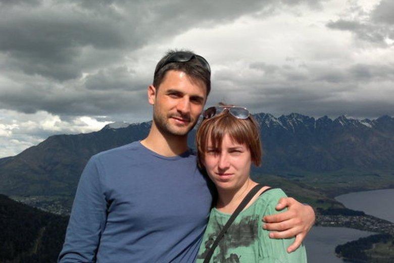Jędrek i Marta podczas jednej ze swoich wcześniejszych podróży.