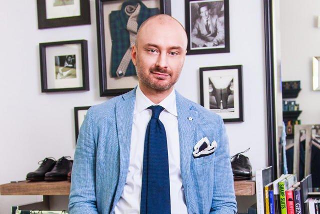 Wojciech Szarski w jego butiku Macaroni Tomato