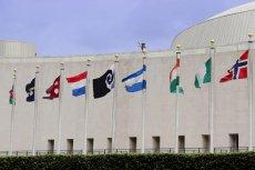 Jedna z propozycji flag pośród innych, autentycznych.