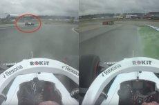Robert Kubica podczas GP Niemiec wykorzystał błąd George'a Russella.