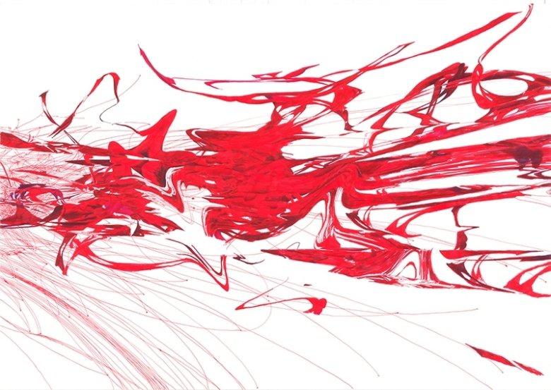 Cells dividing, 100 x 70 cm, 2013, marker  i cienkopis na papierze