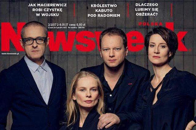 """Aktorzy Nowego Teatru w wywiadzie dla """"Newsweeka""""."""