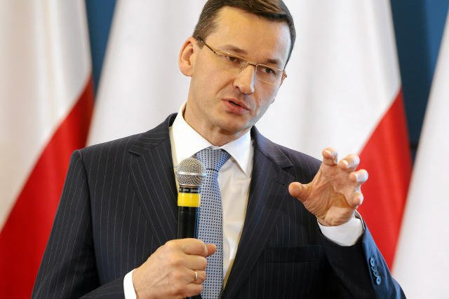 Mateusz Morawiecki podczas prezentacji planu odpowiedzialnego rozwoju.