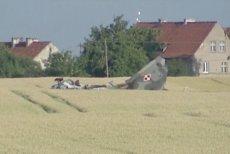 W okolicy Pasłęka zginął pilot kapitan Sobański. W zmodernizowanym fotelu nie otworzył się spadochron.