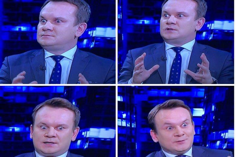 Poseł PiS dał popis w telewizyjnym studiu i nie miał do powiedzenia nic ciekawego.