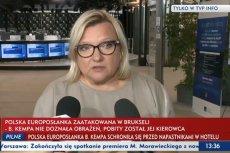 Beata Kempa skomentowała atak na swojego kierowcę w TVP Info.