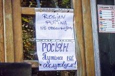 """""""Rosjan Putina nie obsługujemy"""" - taki komunikat widzą rosyjscy goście restauracji """"Piaskownica"""" w Sopocie."""