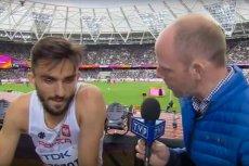 Adam Kszczot przerwał wywiad po niezręcznym pytaniu dziennikarza TVP.