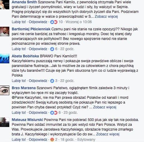 Komentarze na tablicy Gasiuk-Pihowicz