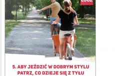 """Fundacja z Łodzi stworzyła """"śmieszny"""" poradnik dla rowerzystów"""