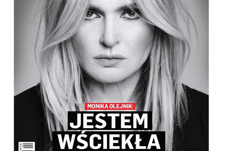 """Okładka tygodnika """"Newsweek"""" z Moniką Olejnik."""