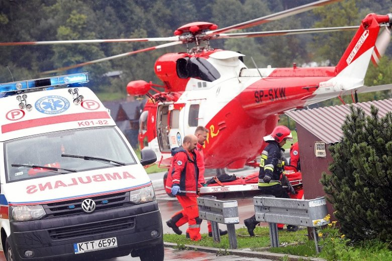 Po burzy w Tatrach ranni trafili do szpitali z poważnymi obrażeniami.