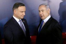 Andrzej Duda i Benjamin Netanjahu podczas konferencji bliskowschodniej na Zamku Królewskim w Warszawie.
