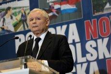 Prezes PiS Jarosław Kaczyński na konferencji prasowej