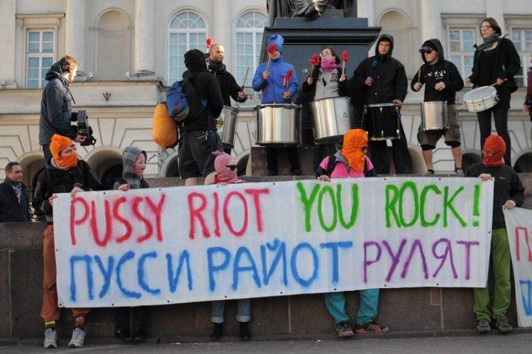 Proces dziewczyn z Pussy Riot za Modlitwę o przepędzenie Putina.