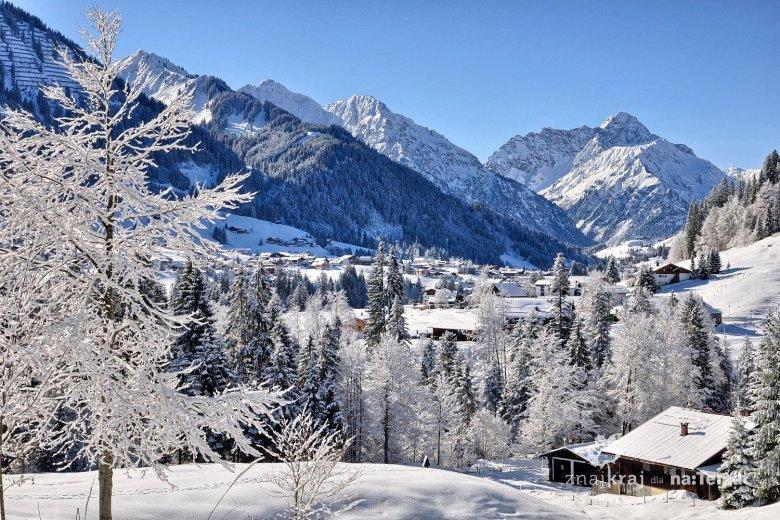 Zima w dolinie Kleinwalsertal