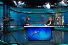 Telewizja Republika prowadzi próbną transmisję z okazji trzeciej rocznicy katastrofy smoleńskiej (na zdjęciu studio)