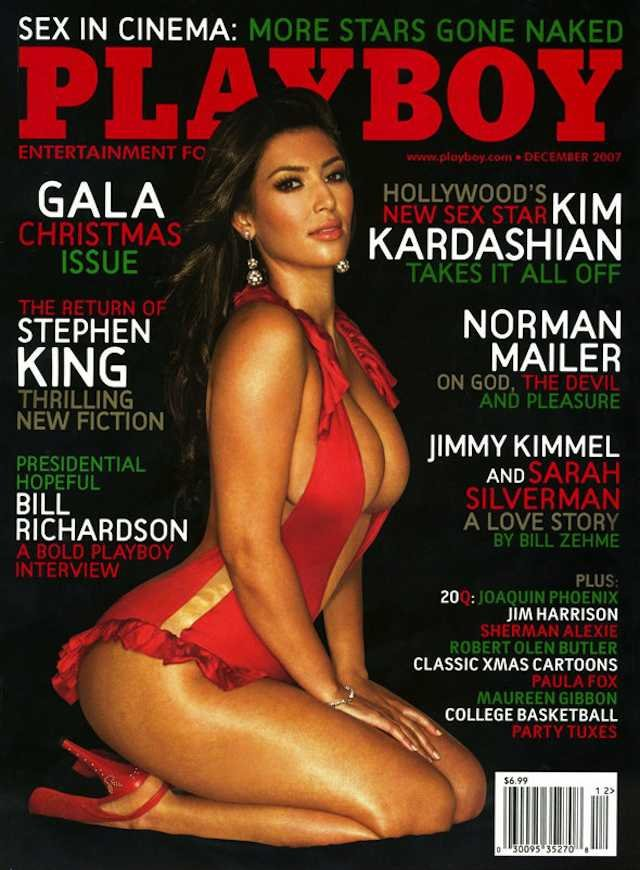 Kim Kardashian na okładce amerykańskiego Playboya. Rok 2007.