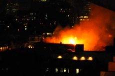 Pożar w dzielnicy Queens wywołany przez sztorm tropikalny Sandy