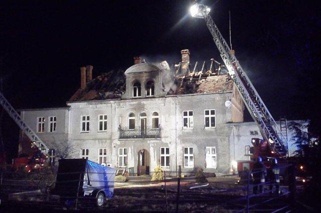Pałacyk, który spłonął. Zdjęcie za zgodą Fundacji.