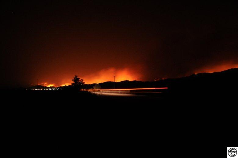 pożar lasów Rodos