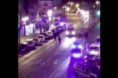 Screen z filmu po ataku w niemieckim mieście Hanau pod Frankfurtem.