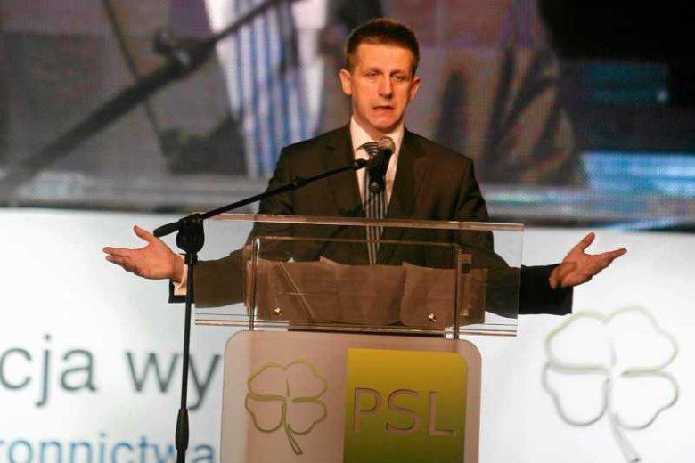Jan Bury na konwencji przedwyborczej PSL