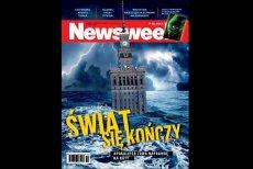 """Okładka tygodnika """"Newsweek Polska"""" z tekstem porównującym retorykę dzisiejszej prawicy i komunistów."""