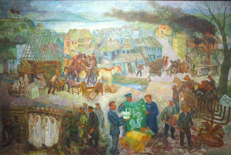 Jeden z kontrowersyjnych obrazów Chaima Goldberga