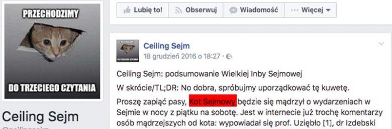 Link zamieszczony w przypisach opinii prawnej prof. Banaszaka prowadzi na ten profil.
