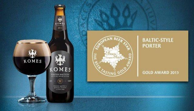 Komes Porter zdobył w 2013 r. złoty medal na największym konkursie piwnym w Europie - European Beer Star.