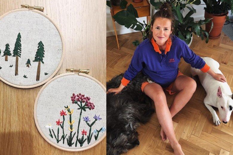 Olga Frycz zdradziła, że jej pasją jest haft. Fani zachwycili się jej rękodziełem