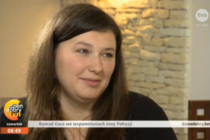 Żona Konrada Gacy wciąż nie poradziła sobie ze stratą męża.