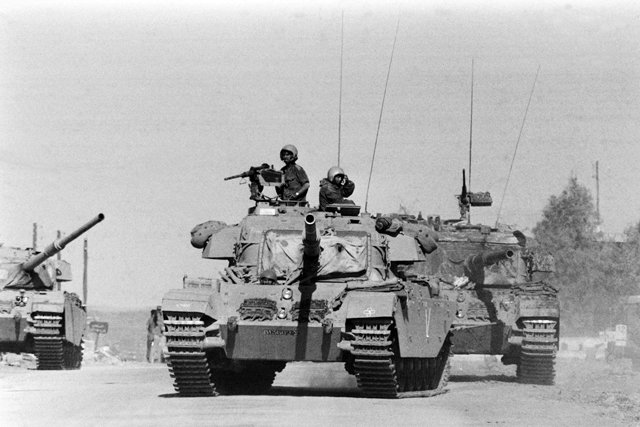 Izraelskie czołgi Centurion.