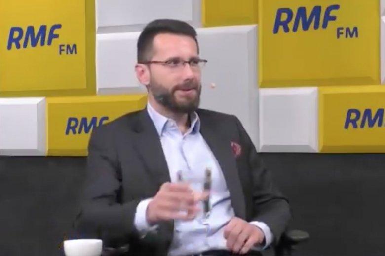 Radosław Fogiel przeszedł chrzest bojowy w RMF FM u Roberta Mazurka.