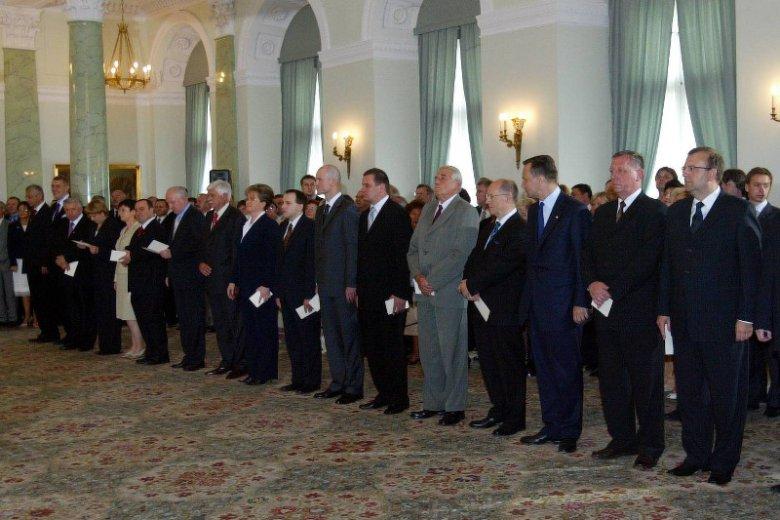14.07.2006 rok. Pałac Prezydencki w Warszawie. Uroczyste zaprzysiężenie rządu Jarosława Kaczyńskiego