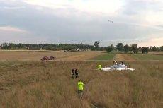 Śmigłowiec TVN awaryjnie lądował na polach w pobliżu radomskiego lotniska.