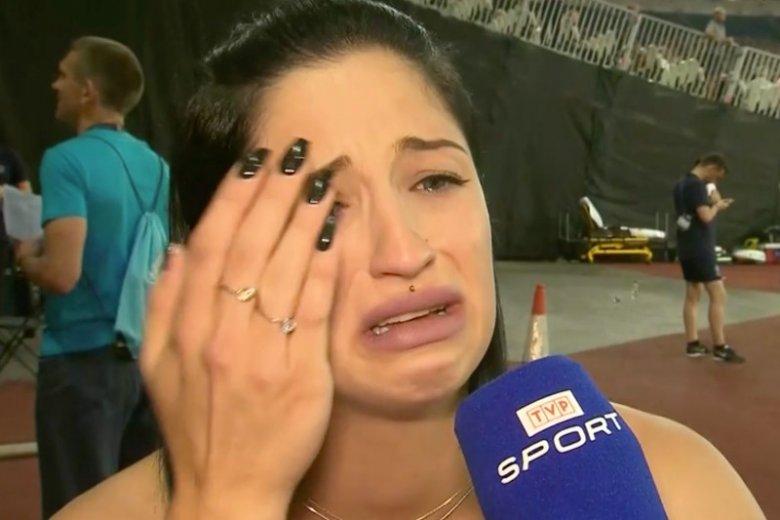 Ewa Swoboda rozpłakała się przed kamerą TVP Sport.