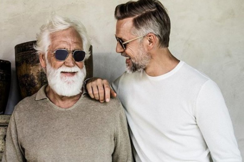 Remco Van Der Linden i jego ojciec aad Van Der Linder we wspólnej sesji zdjęciowej