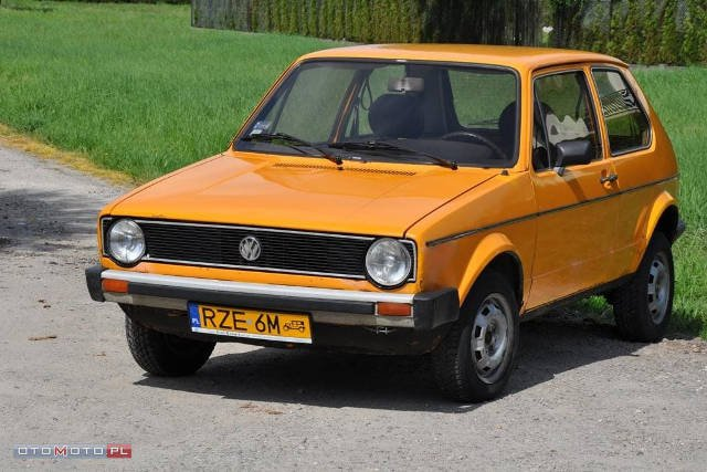 Volkswagen Golf I mk1, żółte blachy, 79r