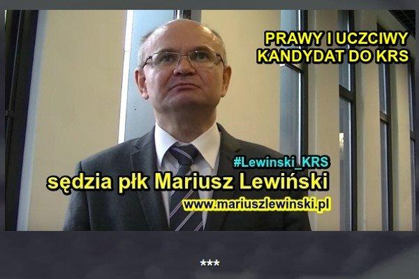 Sędzia Lewiński jest sędzią w stanie spoczynku i - zdaniem sejmowych prawników - nie może zostać wybrany w skład KRS.