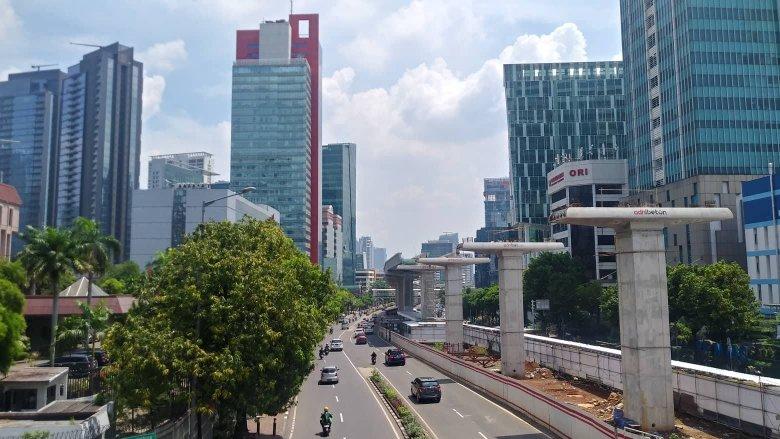 Teren budowy metra w Dżakarcie.