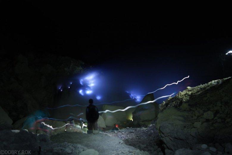 Fumarole na wulkanie - Wulkan Ijen, Jawa Indonezja