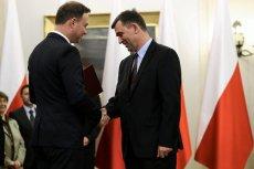 Prezydent Andrzej Duda i Andrzej Przyłębski