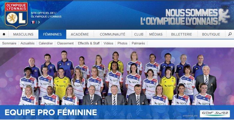 Piłkarki Lyonu na wspólnym zdjęciu.