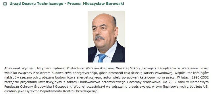 Szefem UDT jest Mieczysław Borowski