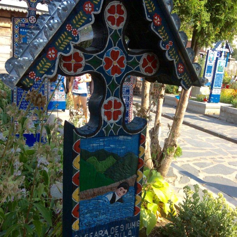 Wesoły Cmentarz w Sapancie - malowidła nagrobkowe