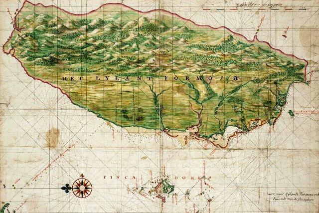 Stara mapa Tajwanu, dawniej Formozy